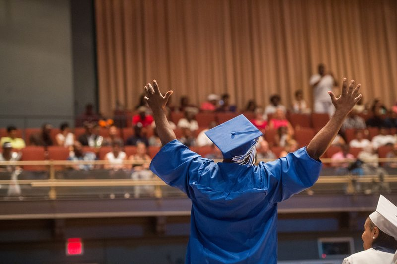 Graduation at Mastery Charter School in Philadelphia